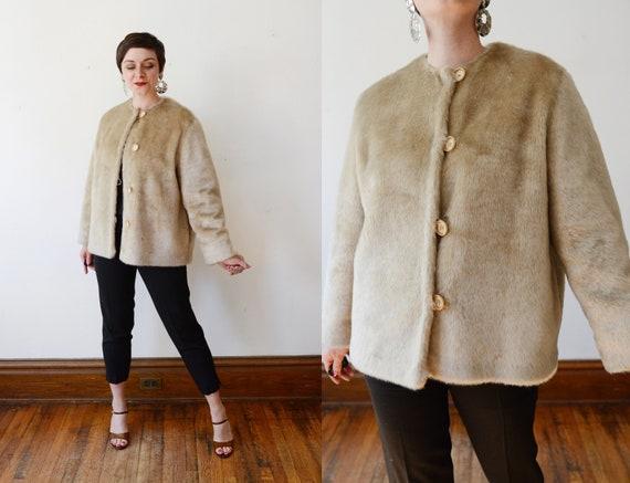 1970s Faux Fur Jacket - M