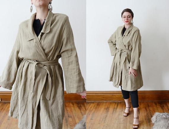 1980s Cotton Wrap Jacket - M/L