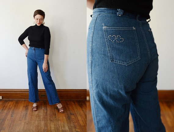 1980s High Waist Flare Jeans - S/M