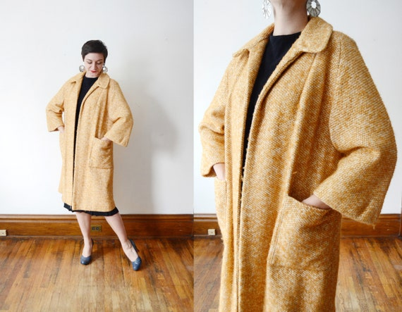 1960s Yellow Wool Coat - M