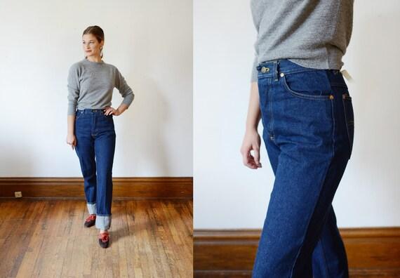 Deadstock 1980s Blue Jeans - Long S