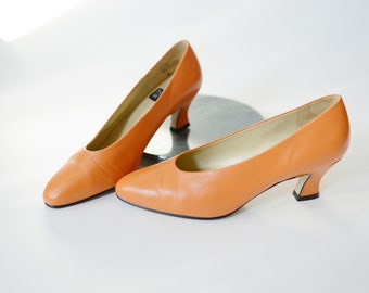 1980s Orange Nine West Heels - 6M