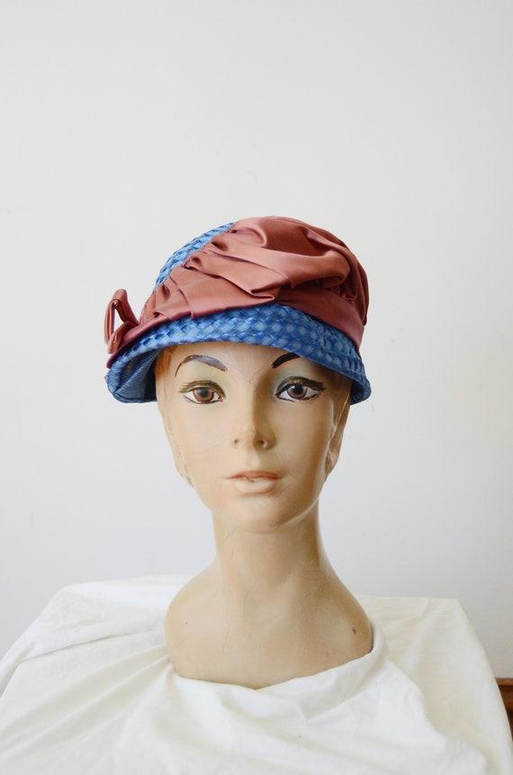 1960s Blue Bubble Hat