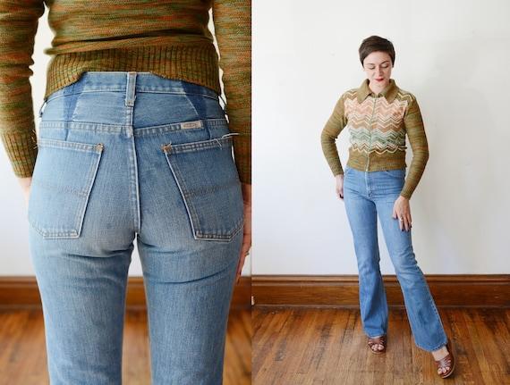 Vintage Blue Denim Flare Jeans - S/M