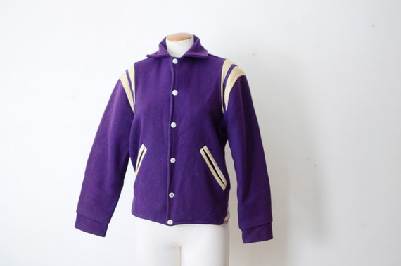As Is 1950s/1960s Purple Athletic Jacket - S