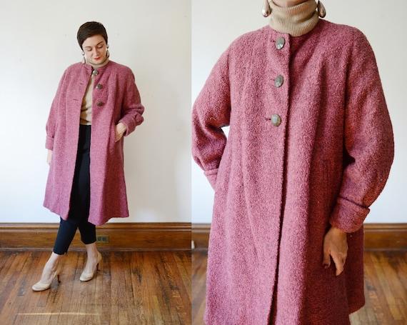 1940s Pink Wool Coat - M