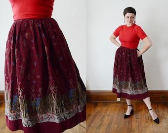 1980s Corduroy Duck Skirt - XS