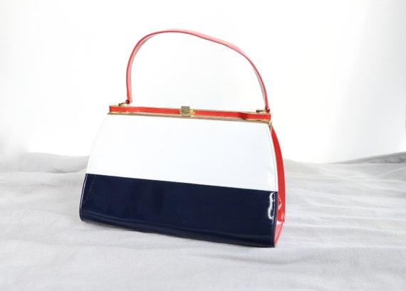 1960s Red White and Blue Handbag