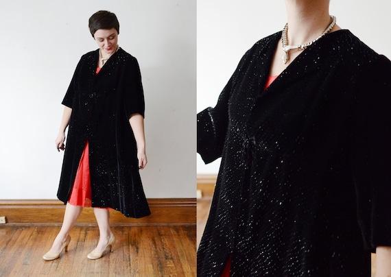 1950s Velvet Formal Coat - M/L
