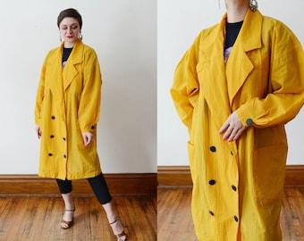 Rebecca Moses 1990s Yellow Nylon Jacket - XS/S/M