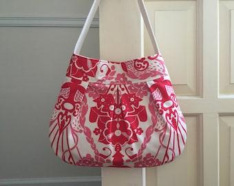 floral designer canvas shoulder bag // pleated purse // nouveau bouquet by anna maria horner // the charlie bag // READY TO SHIP