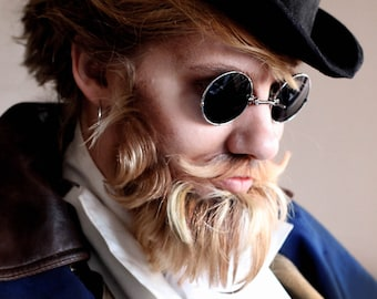 Pince Nez Eyeglasses,Sunglasses for Men, Retro Eyewear,Gothic Gifts for Him, Black Sunglasses, Small Gifts ,Steampunk Costume for Men
