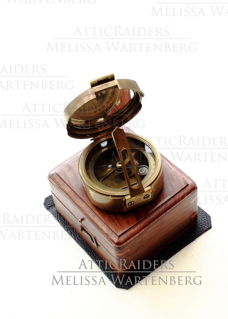 Nautical Gemologist Brunton Compass Old World Office Decor image 0