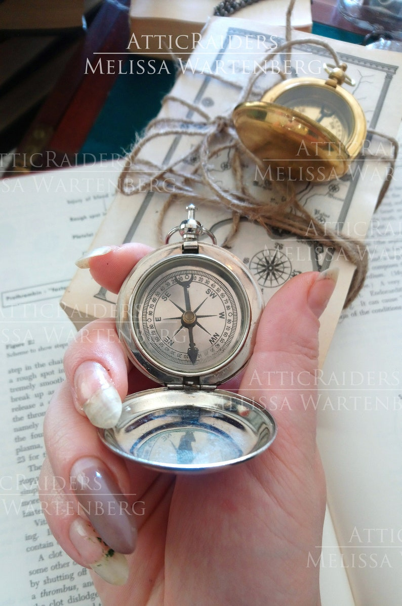 Brass Steampunk Compass Stocking Stuffers for Boyfriend image 0
