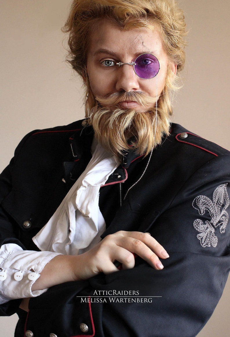 Purple Steampunk Cosplay Monocle Steampunk Costume for Men image 0