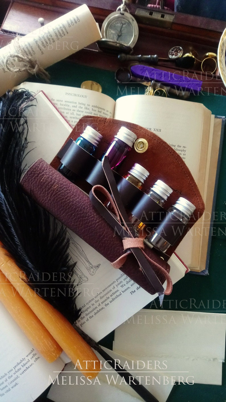 Steampunk Craft Kit Ink Sample Writing Set Travel Gifts for image 0