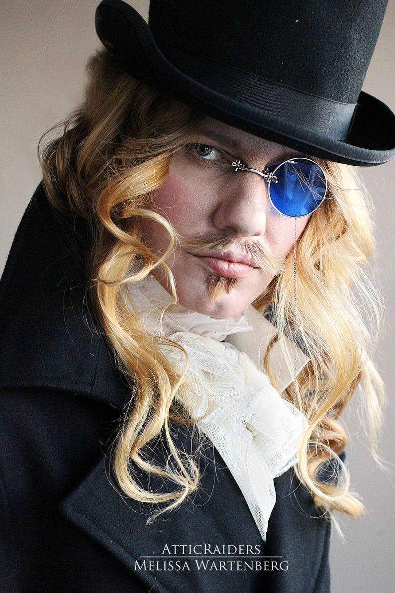 Steampunk Blue Monocle Monocle Eyewear Costume Glasses image 0