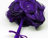 Fabric silk organza satin taffeta handmade flowers posy posie bouquet in any colour