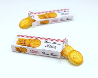 """MTO-Open Box of """"Bonne Maman"""" French Butter Cookies - Etched"""