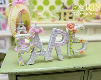 "A ""PARIS"" Decoration for Spring - Miniature Decoration in 12th Scale"