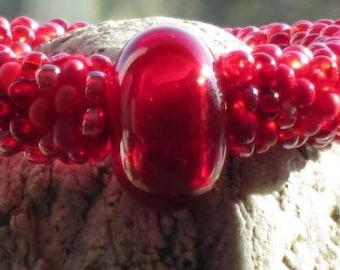Devil's Food Cake bead crochet bracelet......FREE SHIPPING
