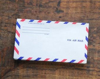 Vintage Airmail Envelopes, 6 1/2 X 3 5/8, Set Of 5, After 5 Days Return To  Address Space