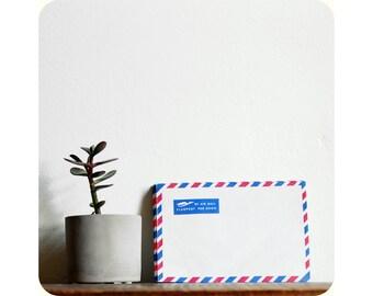 Vintage Airmail Envelopes, Par Avion, Flugpost, Set of 5