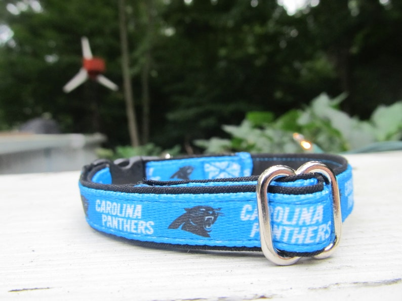 buy popular 88294 74126 Carolina Panthers Cat or Small Dog Collar with Option of Black or Pink  Backing