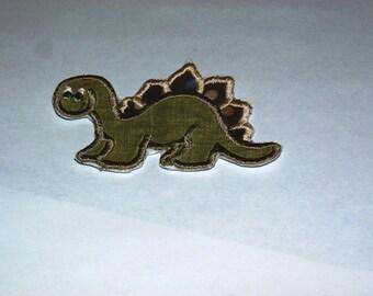 Embroidered Iron On Applique- Dinosaur
