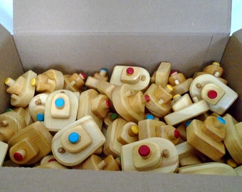 Made to order, A Lot of 50 Wooden Small Boats, Wood Bathtub Toy, Handmade Kids gift, Party favour, Waldorf inspired, Jacobs Wooden Toys