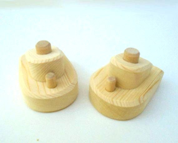 Natural Wood Unfinished Small Diy Toy Boat Set Of 2 Toddler Wooden Toy Kids Gift Waldorf Handmade Wood Toy Jacobs Wooden Toys