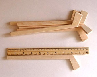 Wooden Small Ice Hockey Stick Set of 6, delivery 10-12 business days(Mon-Fri) to the USA, Party Favor, Hockey Decor,Gift, Jacobs Wooden Toys