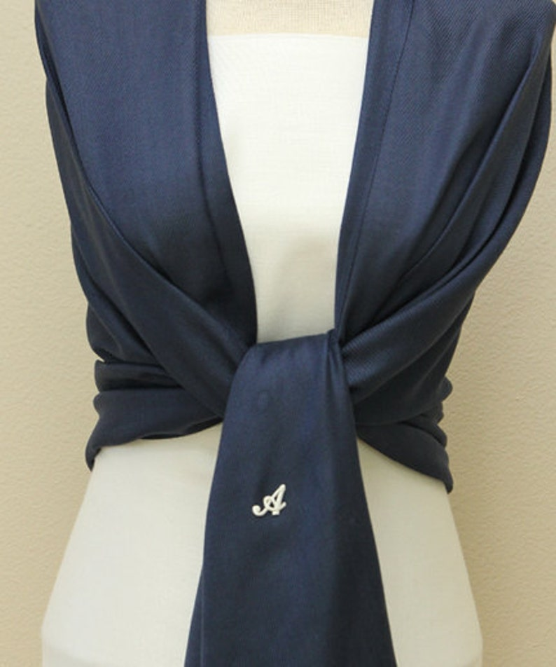7cefc657bb Bridal wrap navy blue pashmina shawl scarf weddings gifts