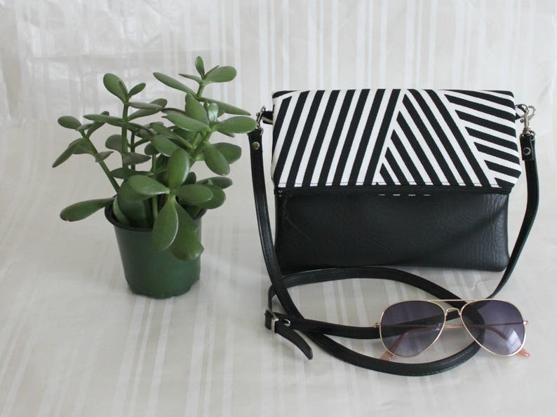 Boho Bag Gifts for 50 Black Crossbody Bag Handbag JULIA CrossBody Purse Every day Purse Foldover Crossbody Bag Simple CrossBody Bag