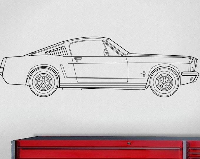 1965 ford mustang 289 fastback wall decal