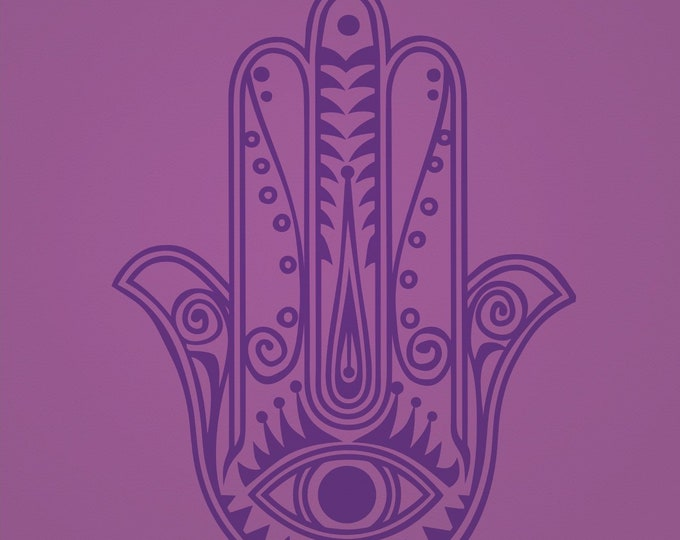large hamsa wall decal, yoga studio decor, living room decor