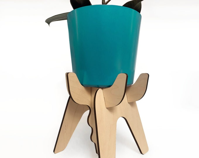 FUNKL wooden plant stand, sculptural plant holder, maple, indoor plant stand, plant riser, house plant, wood plant holder, modern