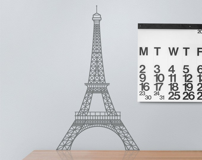 Eiffel tower wall decal- paris, architecture wall decor, office decor, francophile, architectural design, blueprint