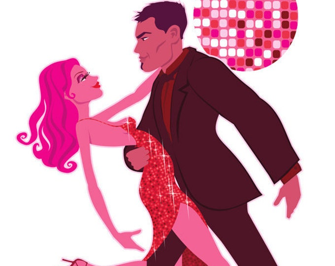 Salsa Dancing clip art- ballroom dancing clip art, royalty free clip art, dancing illustration, love art, couple dancing, INSTANT DOWNLOAD