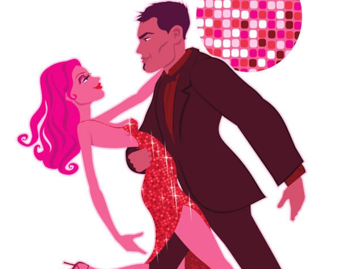 Salsa Dancing clip art, ballroom dancing clip art, royalty free clip art, dancing illustration, love art, couple dancing, INSTANT DOWNLOAD