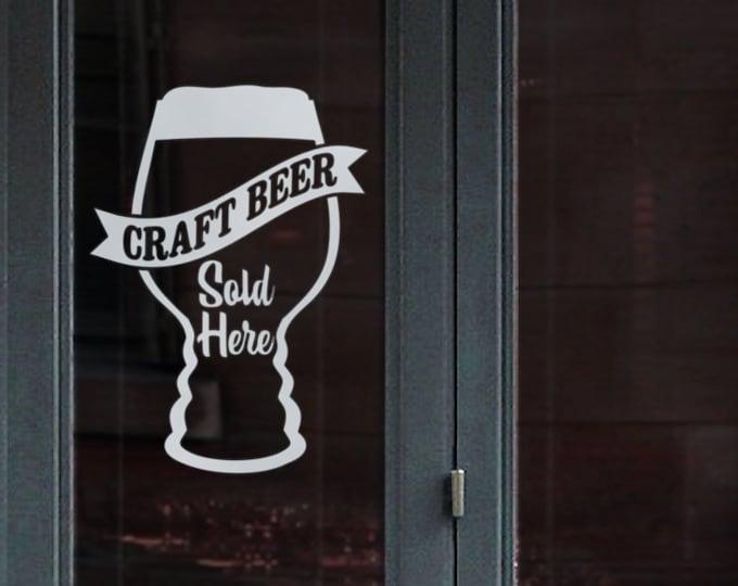 craft beer window decal sign, craft beer pub signage, beer bar window sticker sign, beer bar sign, pub decal