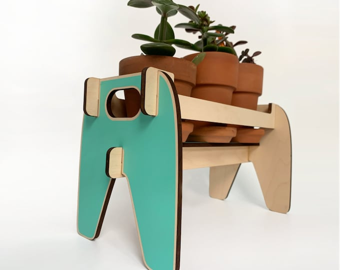 BEVERLY wooden plant holder, wood plant stand small plant shelf, succulents, cactus, indoor plants, plant riser, house plant, herb garden