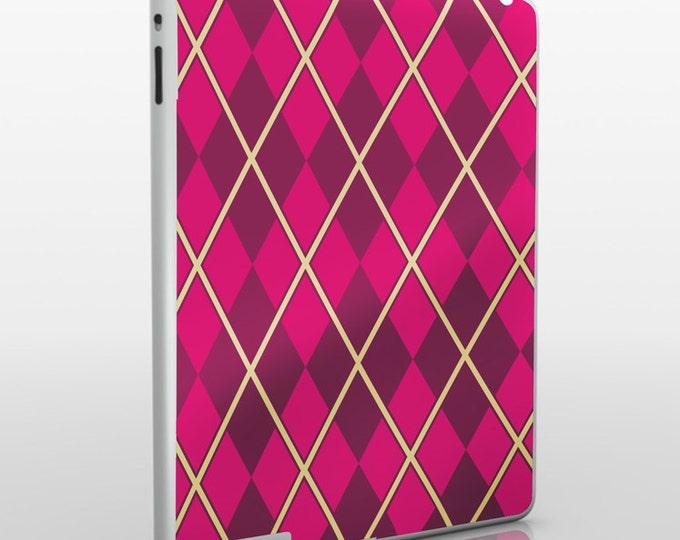 argyle iPad skin, pattern iPad sticker for iPad and iPad mini, geometric argyle decal, FREE SHIPPING