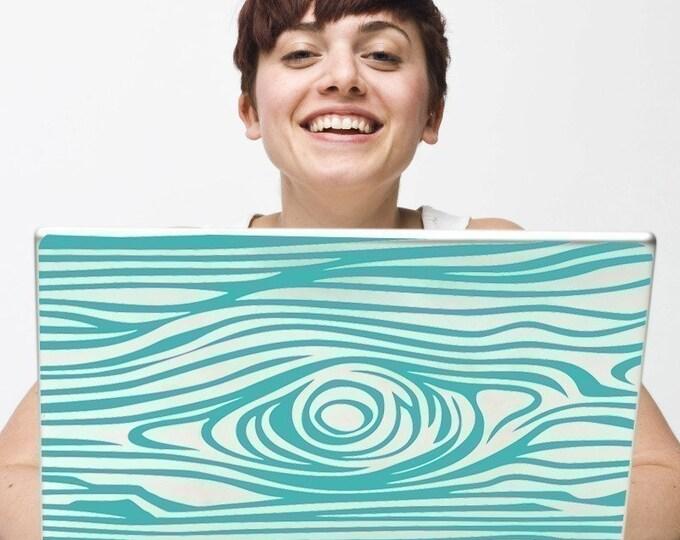 custom fit woodgrain laptop decal, vinyl sticker art, faux bois sticker art, FREE SHIPPING