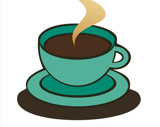 Coffee cup clip art- coffee illustration, food and drink, diner coffee, restaurant, menu art, royalty free, INSTANT DOWNLOAD