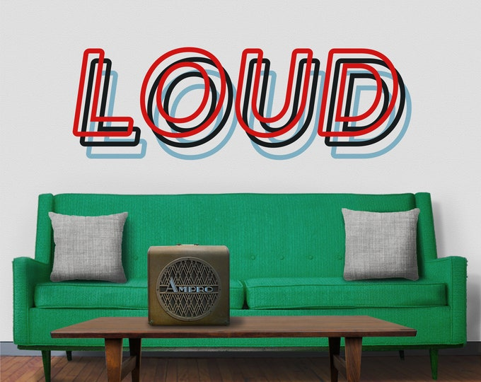 Custom word wall decal- statement wall decal, custom quote, 3D style lettering, custom lettering wall decor, quotation decal