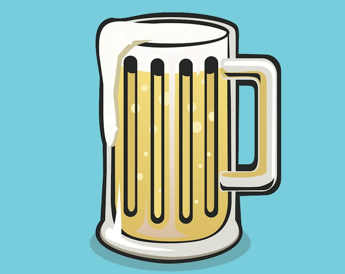 Beer stein clip art- craft beer stein glass, lager art, german beer, food and drink, pub art, royalty free clip art, INSTANT DOWNLOAD