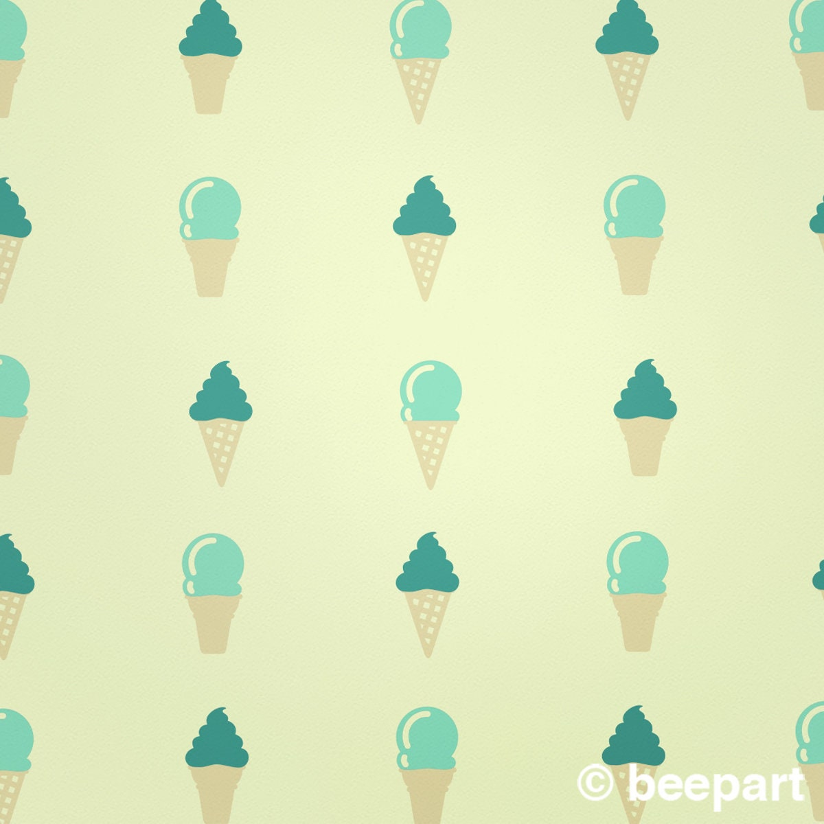 ice cream cone wall decal set, ice cream stickers, ice cream decor ...