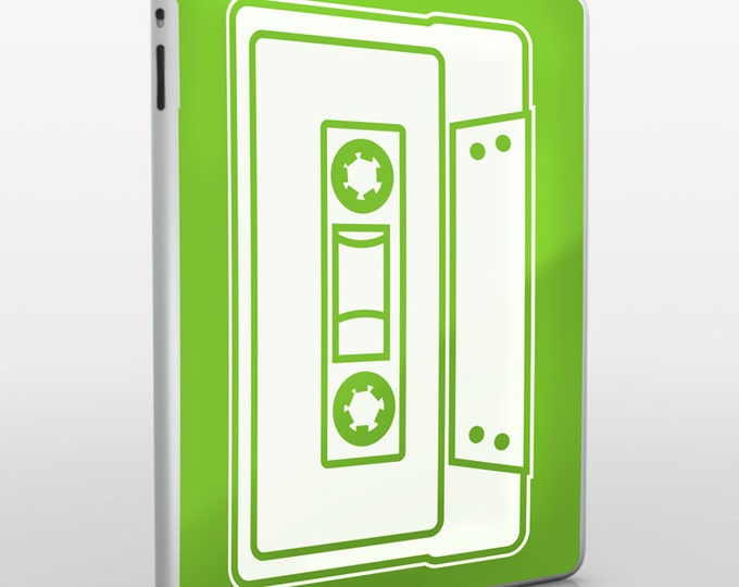 cassette iPad skin, mixed tape vinyl decal, iPad sticker art, iPad mini decal, iPad air decal, FREE SHIPPING