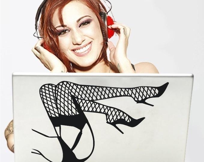 pin up legs laptop decal, burlesque art, pin up legs laptop sticker, FREE SHIPPING